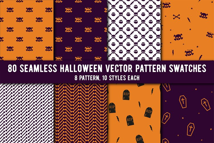80 Halloween Seamless Vector Pattern Swatches example image 1