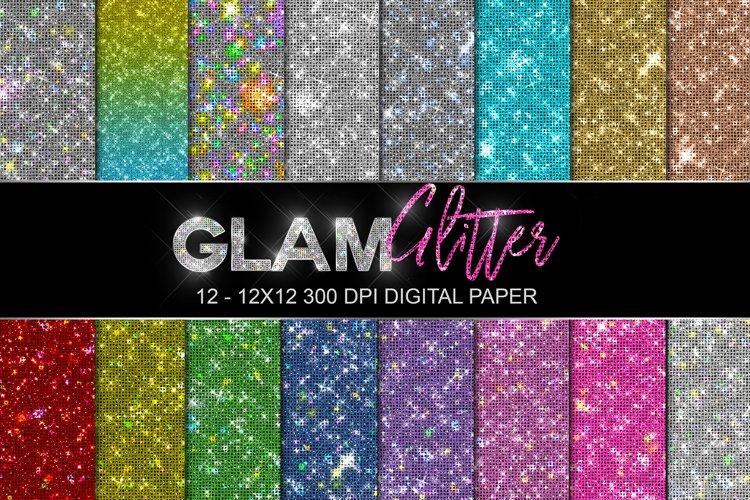 Rainbow Glitter Paper, Digital Paper, Glitter Paper