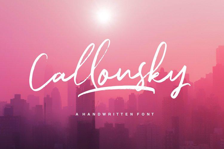 Callonsky Script example image 1