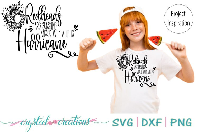 Redheads are Sunshine SVG, DXF, PNG example image 1