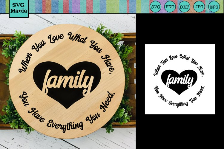 Round Sign Family Saying SVG, Circle Family Quote SVG File example image 1