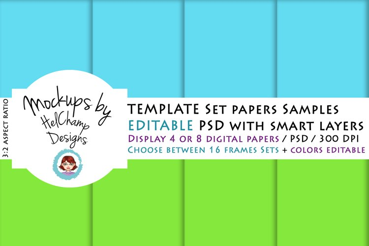 4 or 8 Panels Mockup for Digital Papers - TH03