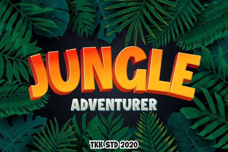 Jungle Adventurer - Gaming Font example image 1