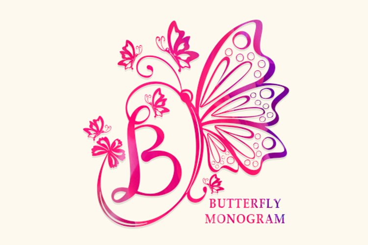 Butterfly Monogram example image 1