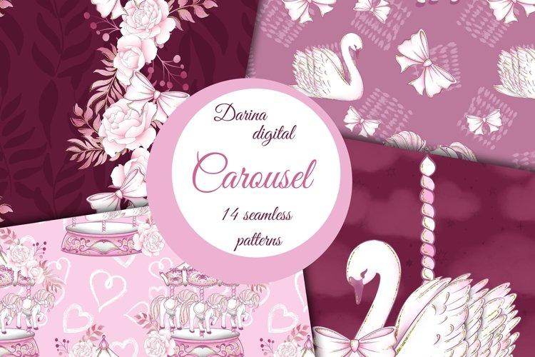 Pink carousel patterns