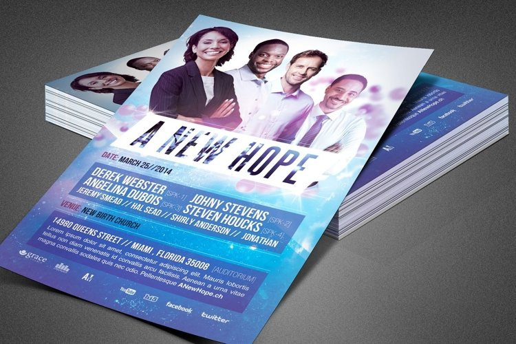 A New Hope Church Flyer Template example image 1