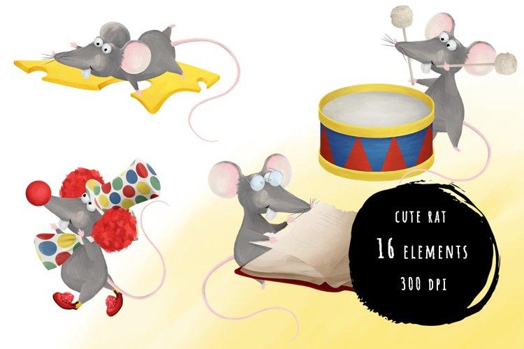 Cute rat stickers bundle example image 1