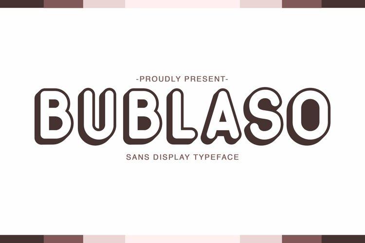 Web Font Bublaso example image 1