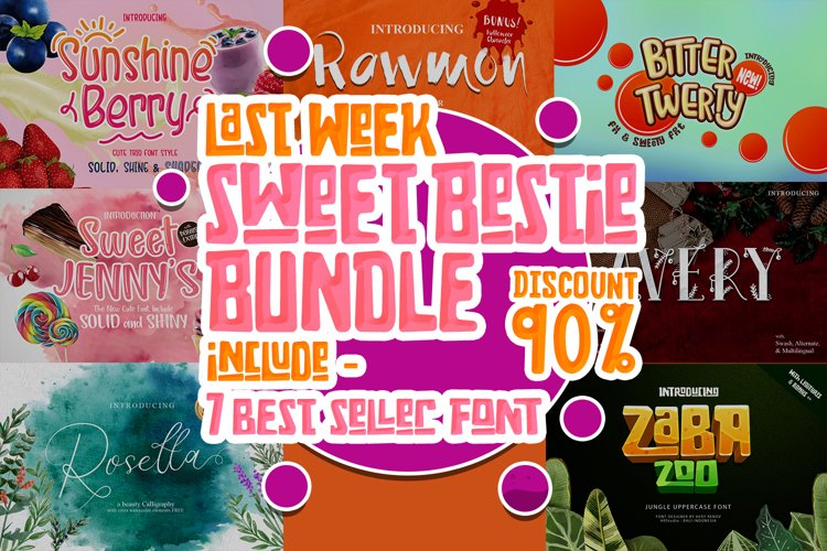 Sweet Bestie Bundle - Discount example image 1