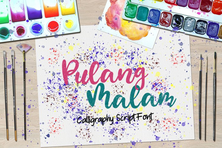 Pulang Malam - Calligraphy Script Font example image 1