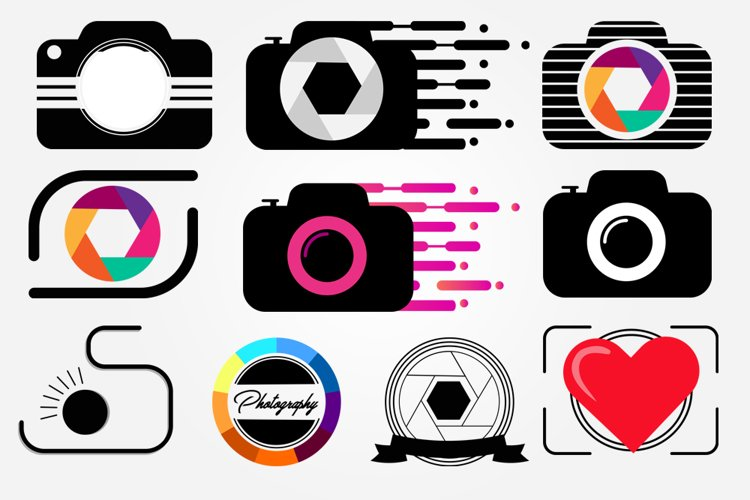 10 Photography Logo Png Pack