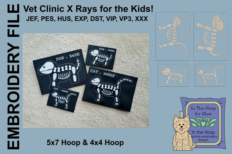 Dog & Cat Vet Clinic X Rays - 4 x 4 and 5 x 7 Hoops