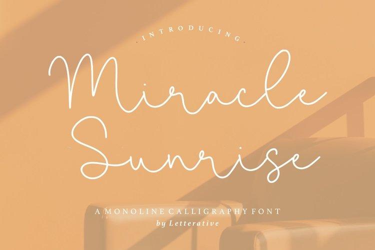 Miracle Sunrise Monoline Calligraphy Font example image 1