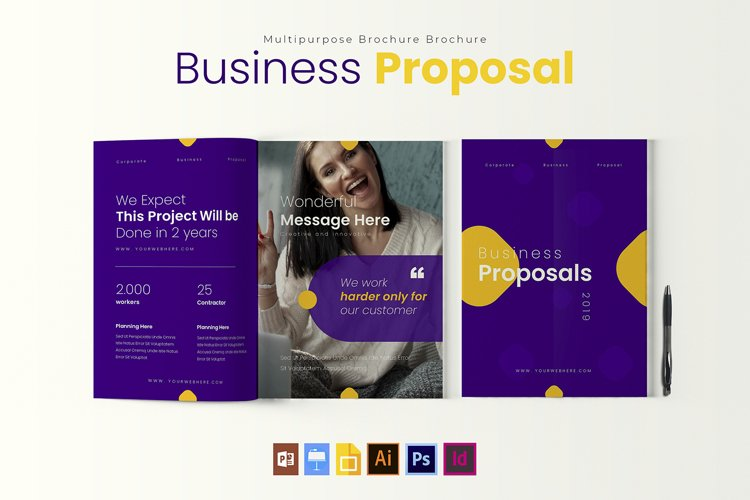 Proposal Project | Brochure Template example image 1