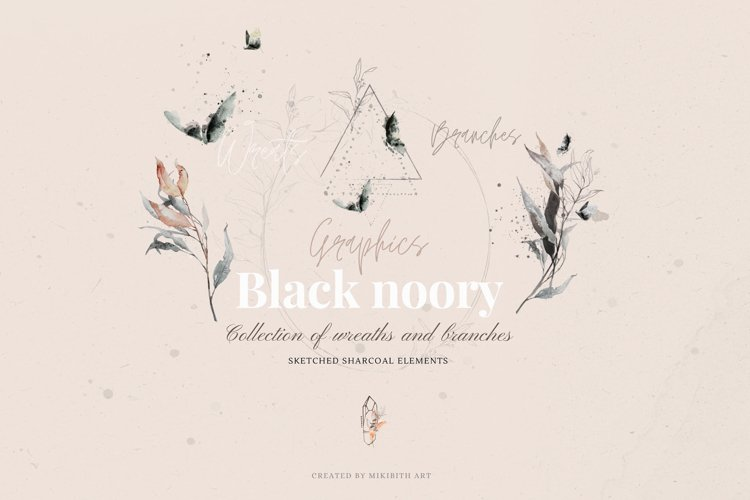 Black Noory collection 70 PNG