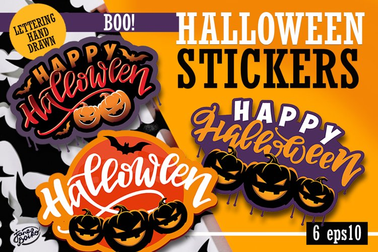 Halloween label set example image 1