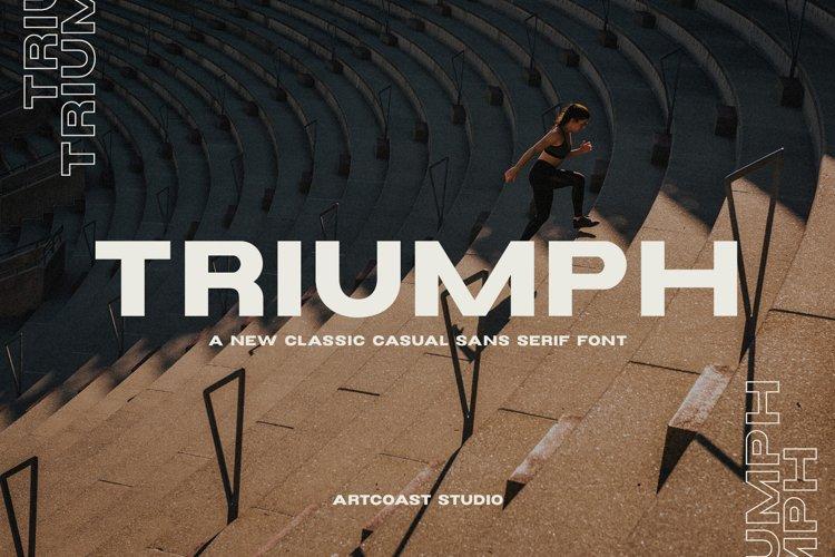 Triumph Wide Sans Serif Font example image 1