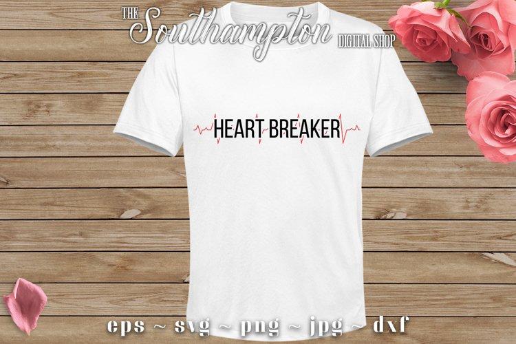 Heart Breaker SVG Cut Files example image 1