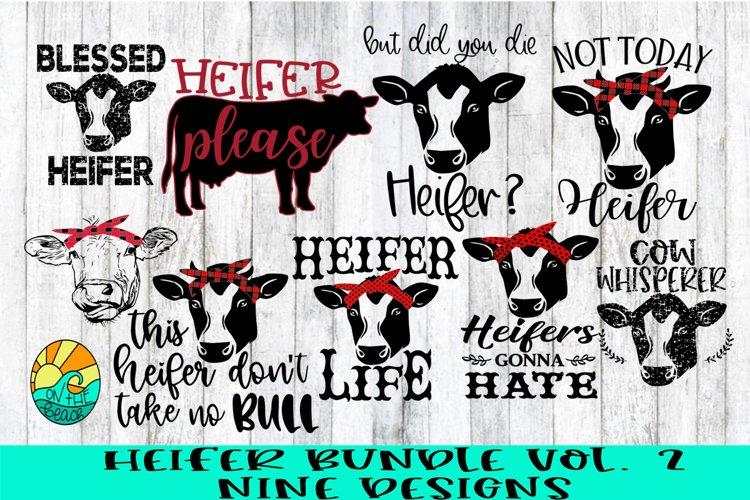 Heifer Bundle Vol 2 - Nine Designs Included - SVG PNG DXF