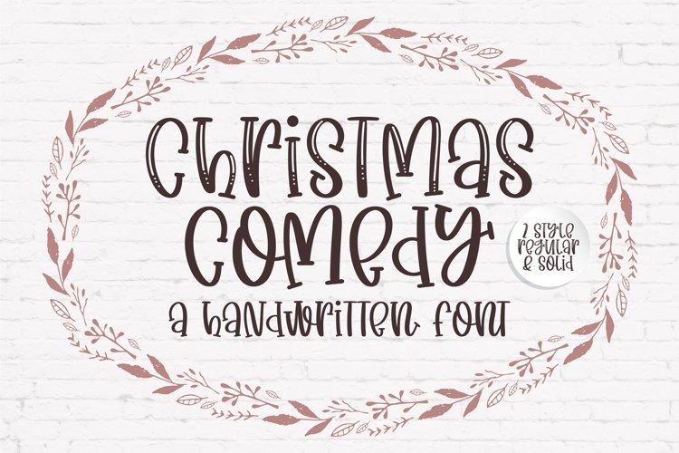 Christmas Comedy - A adorable handwritten mixed case font example image 1