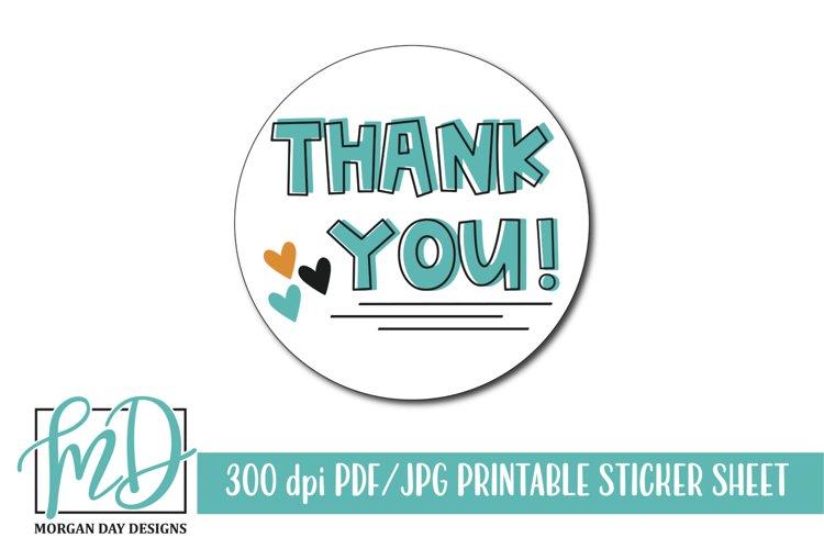 Thank You Printable Sticker Sheet example image 1
