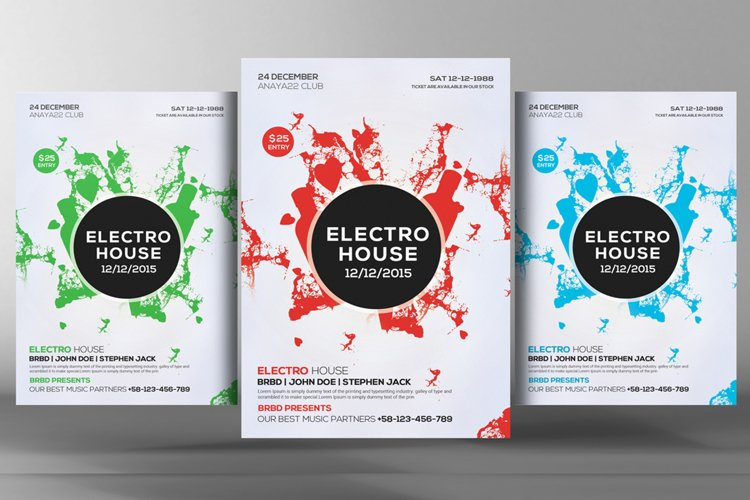 Electro House Flyer Template example image 1