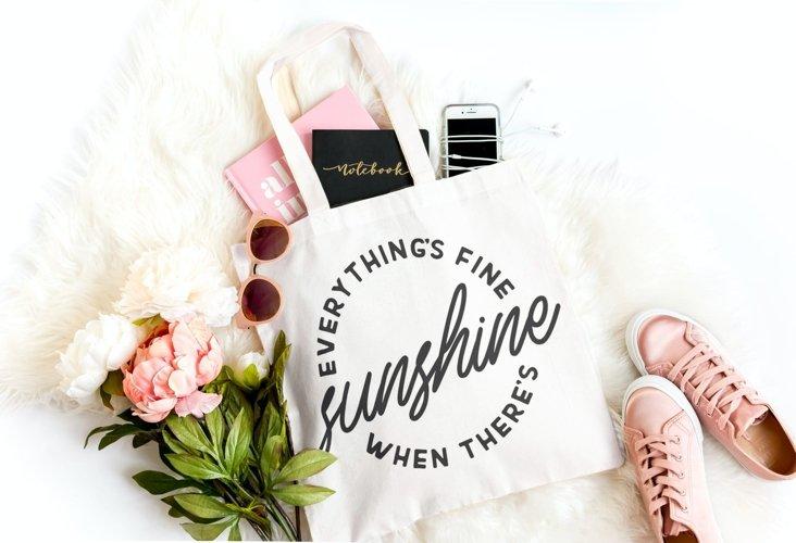 Sunshine, Summer SVG, Tshirt or tote bag designs example 4