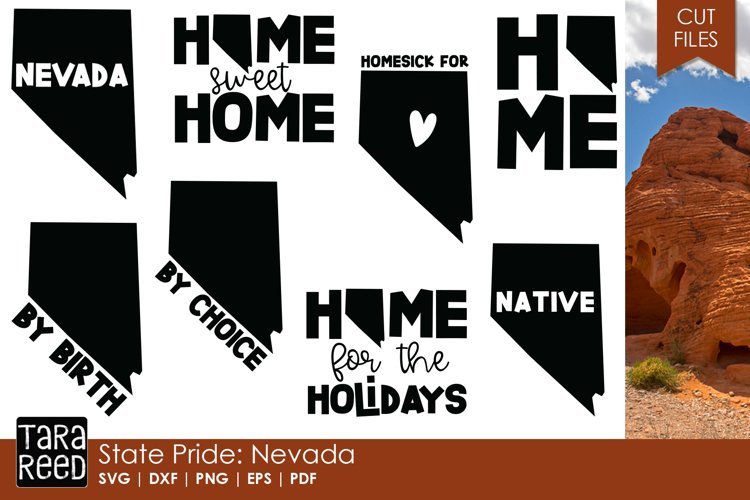 Nevada SVG and Cut Files for Crafters example image 1
