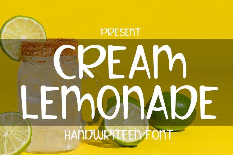 Cream lemonade example image 1