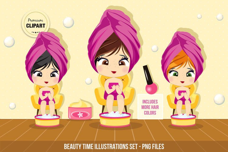 Spa clipart, Beauty time example image 1