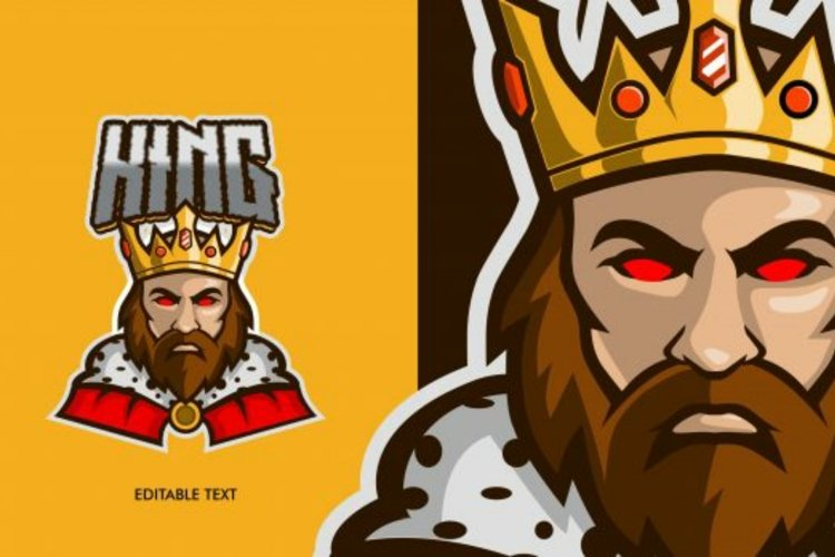 King mascot logo design example image 1