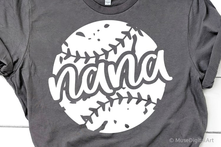 Baseball Nana Svg, Funny Baseball Grandma Shirt Svg File