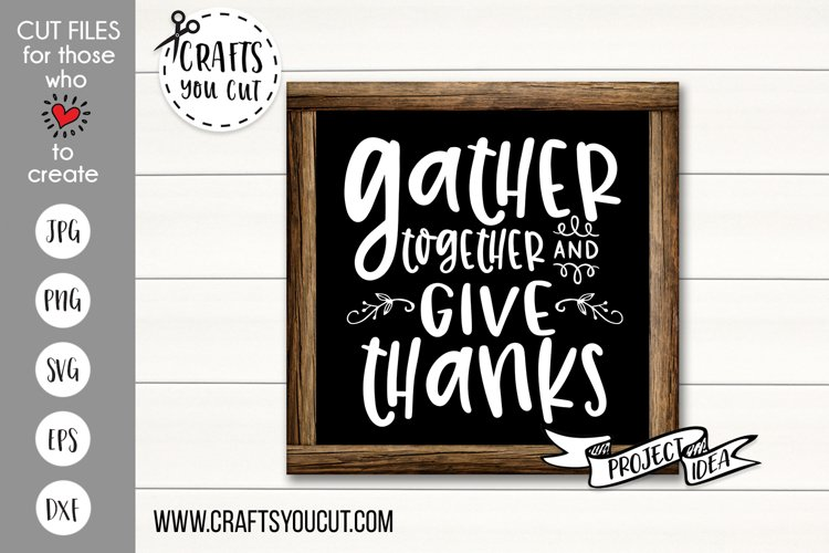Gather Together and Give Thanks Cut File example image 1