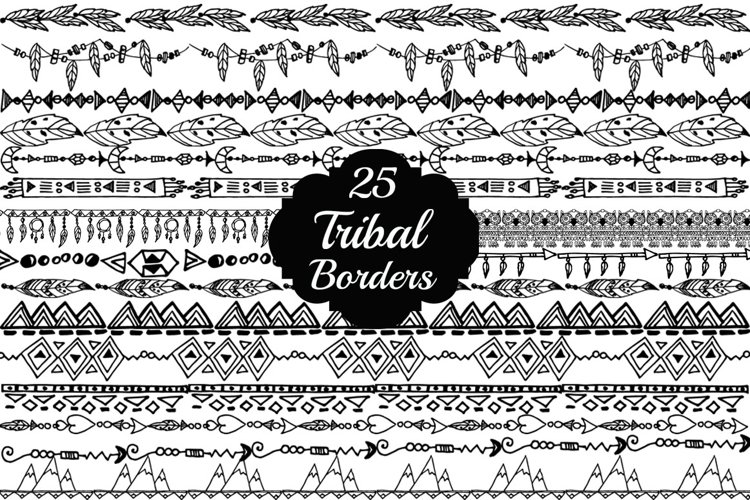Tribal border clipart example image 1