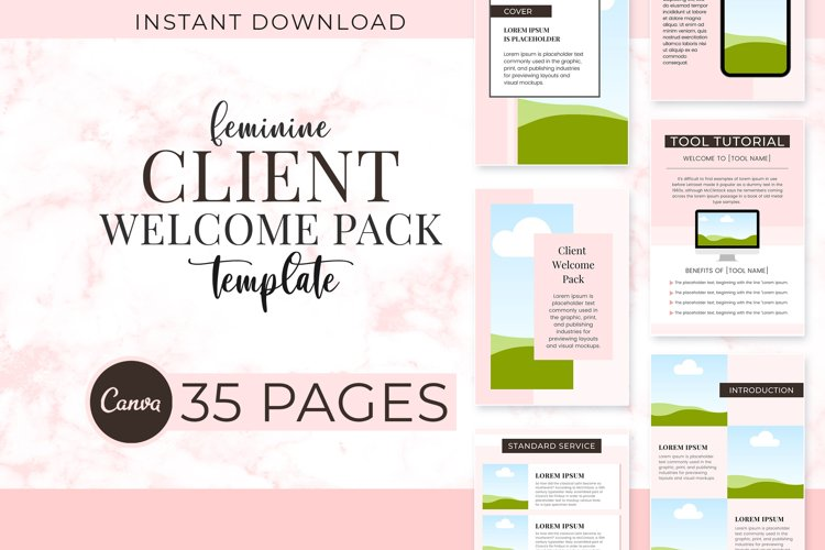 Feminine Client Welcome Pack
