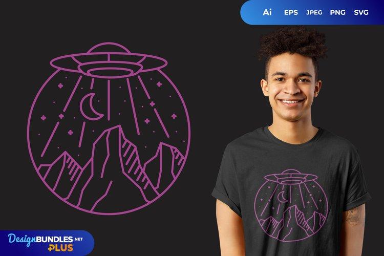 UFO Monogram for T-Shirt Design