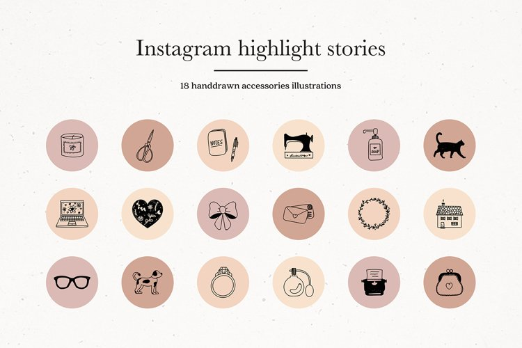 Instagram Accessories Story Highlights Icons Covers example image 1