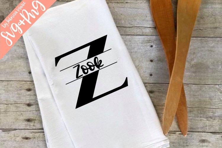 Split Monogram Z - Handdrawn - SVG/PNG