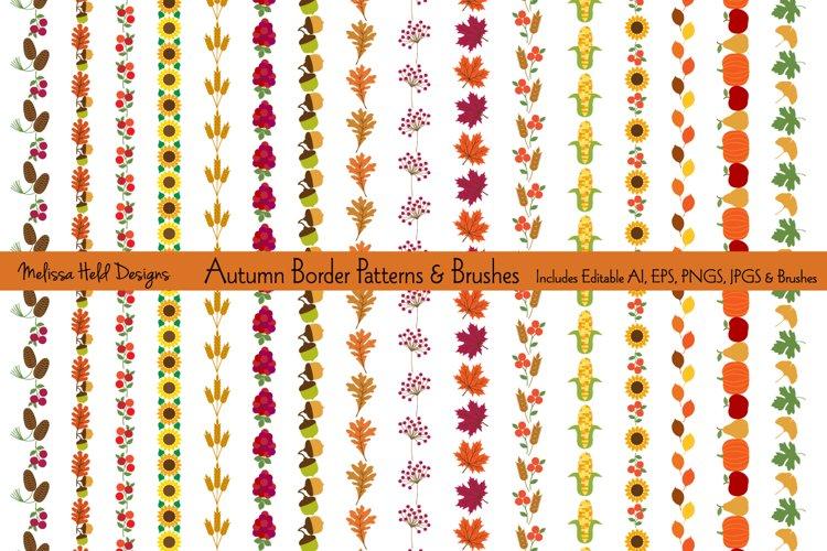 Autumn Border Patterns & Brushes example image 1