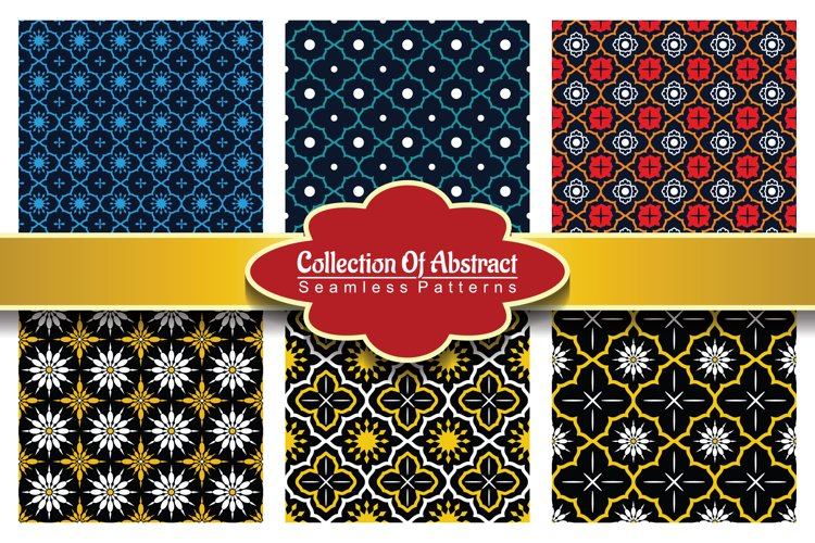 6 Collection Of Abstract Seamless Pattern Vol.4 example image 1