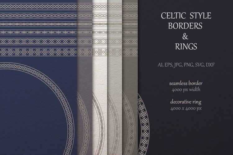 Celtic borders and Rings collection example image 1