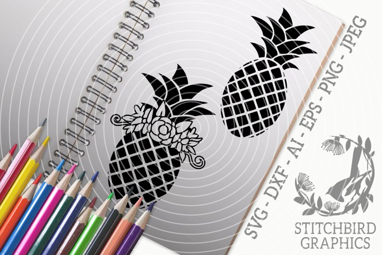 Pineapple Bundle SVG, Silhouette Studio, Cricut, Eps, JPEG