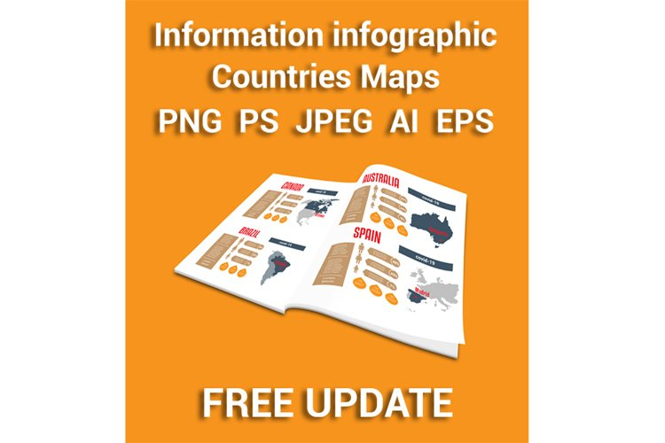 Countries Maps. Universal templates. Free update. example image 1