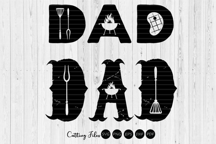 DAD | summer | SVG Cut File example image 1
