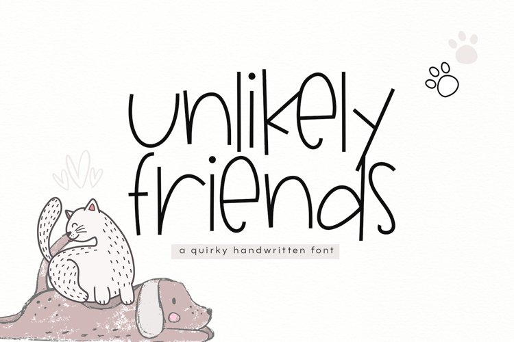 Unlikely Friends - A Quirky Handwritten Font example image 1