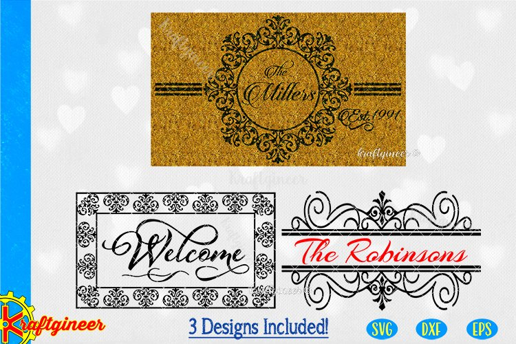 Welcome Mat N Signs SVG | Farmhouse SVG example image 1