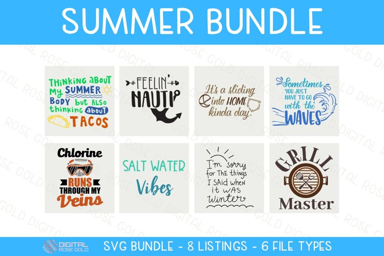 Summer Bundle - SVG BUNDLE - Swimming Summer Pool SVG Quotes example image 1