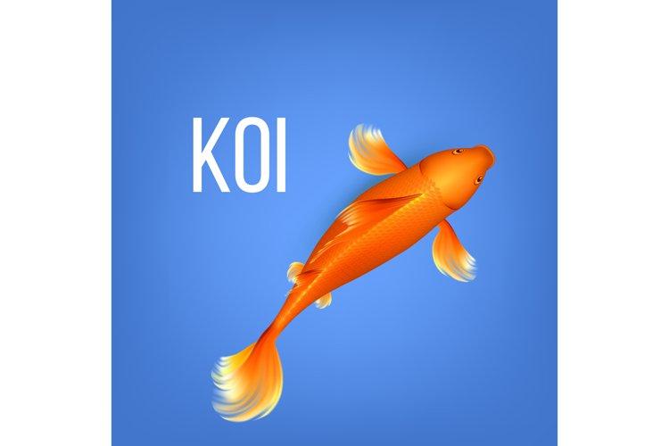 Asian Decorative Orange Koi Golden Fish Vector example image 1