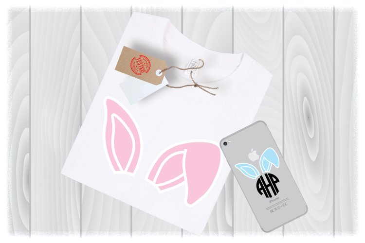Easter Svg Files For Cricut, Easter Bunny Ears SVG, example image 1