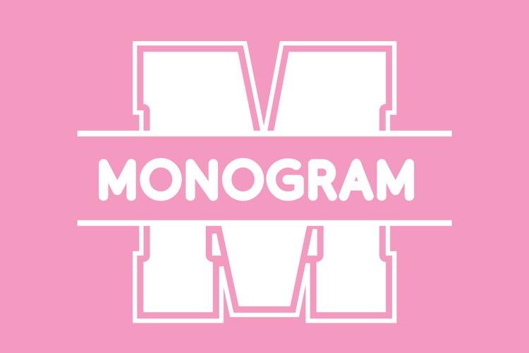 College Sport Split Monogram Font